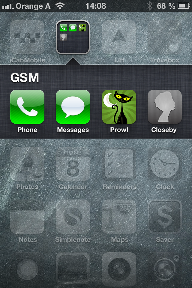 Contents of the GSM folder on my homescreen